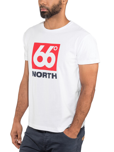 66° North Logn Box Logo t-shirt Heren wit